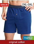 Hanes Men's TAGLESS® Knit Boxers with ComfortSoft Waistband 2X 5-Pack