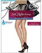 Hanes Silk Reflections Sheer Control Top Pantyhose 3-Pack