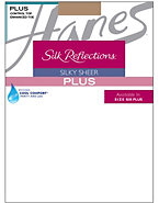 Silk Reflections Plus Sheer Control Top Enhanced Toe Pantyhose 3-Pack