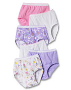 Hanes TAGLESS® Toddler Girls' Cotton Briefs 6-Pack