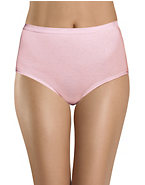 Hanes Women's Classics Assorted Cotton Brief 3-Pack