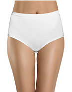 Hanes Women's Classics White Cotton Brief 3-Pack