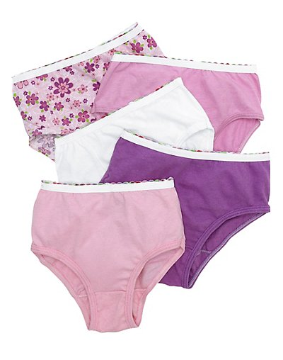Hanes Girls' No Ride-Up Briefs 12-Pack