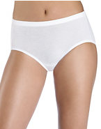 Hanes Women's ComfortSoft® Stretch Cotton Low Rise Brief 3-Pack