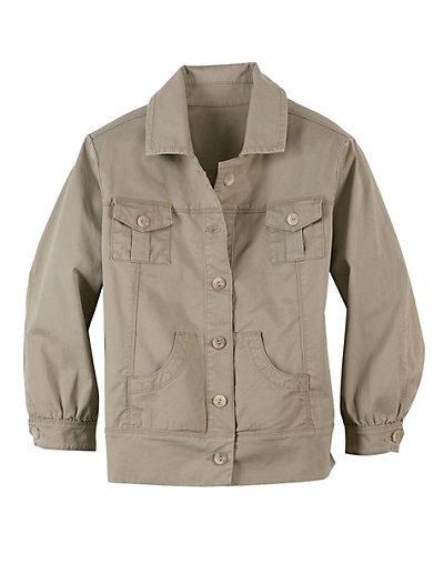 Hanes Signature Womens Classic Twill Jacket