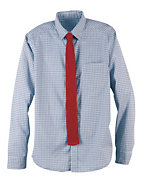 Hanes Signature™ Men's Patch Pocket Tattersall Shirt