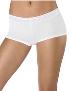 Hanes® Women's ComfortSoft® Cotton Stretch Lace Boy Brief Panties 3-Pack