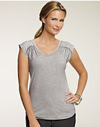 Hanes Signature® Women's Featherweight Gathered Shoulder T-Shirt