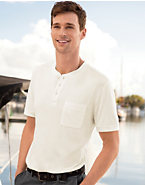 Hanes Signature® Men's Short-Sleeve Slub Henley