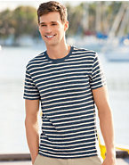 Hanes Signature® Men's Striped T-Shirt