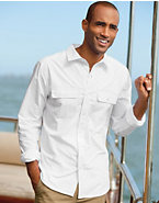 Hanes Signature® Men's Patch Pocket Poplin Shirt