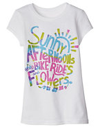 Hanes Girls' Spring Days Graphic T-Shirt