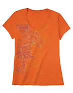 Hanes Women's Leaves of Lace Scoopneck T-Shirt