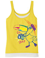 Hanes Girls' Tourist Tucan Graphic Tank