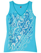 Hanes Women's Vines & Dots Graphic Tank