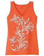 Hanes Women's Bright Floral Graphic Tank