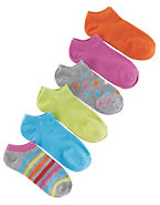 Hanes Women's Brights, Stripes & Dots Low-Cut Socks 6-Pack