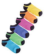 Hanes Women's Neon Low-Cut Socks 6-Pack
