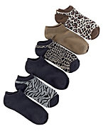 Hanes Women's Animal Low-Cut Socks 6-Pack