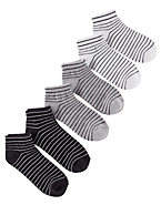 Hanes Women's Pinstripe Ankle Socks 6-Pack