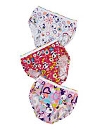 Hanes Tagless® Toddler Girls' Pre-Shrunk Cotton Briefs 3-Pk