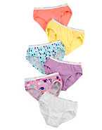 Hanes TAGLESS® Toddler Girls' Pre-Shrunk Cotton Hipsters 6-Pack