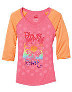 Girls' Flower Power Baseball T