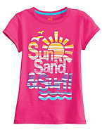 Girls' Sun and Surf Graphic Tee