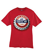 Hanes Beefy-T Red, White and Brew Graphic T-Shirt