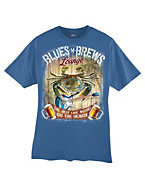 Hanes Beefy-T Blues & Brews Graphic T-Shirt