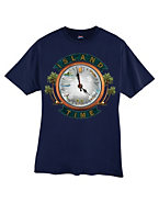Hanes Beefy-T Island Time Graphic T-Shirt