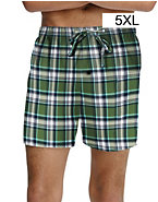 Hanes Men's Woven Plaid Shorts 2-Pack
