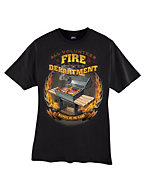 Hanes Beefy-T Men's Fire Department Graphic T-Shirt