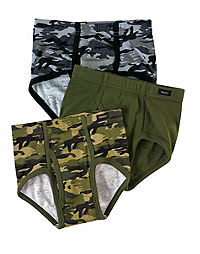 Boys' Briefs Underwear, TAGLESS, Camo, White and more | Hanes.com