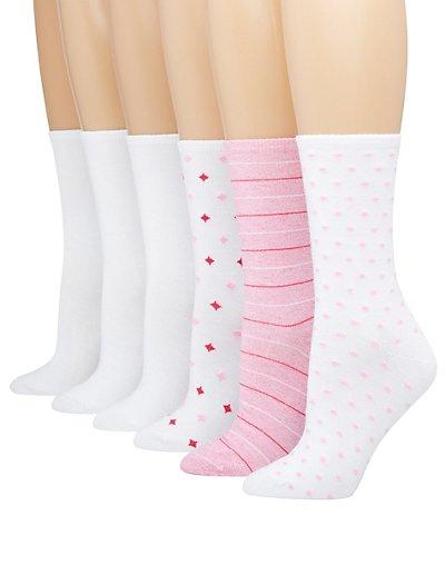 Hanes ComfortBlend Women's Crew Socks Assorted 6-Pack 5-9