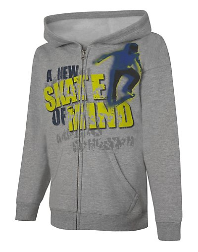 Hanes EcoSmart; Skate of Mind Full-Zip Hoodie Sweatshirt Min