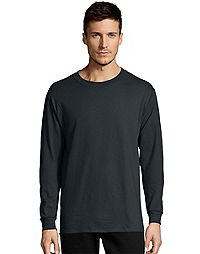 Hanes TAGLESS Nano-T Mens Long-Sleeve Tee | # 498L