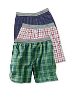 Hanes Boys' Contemporary Tartan Boxer 3-Pack