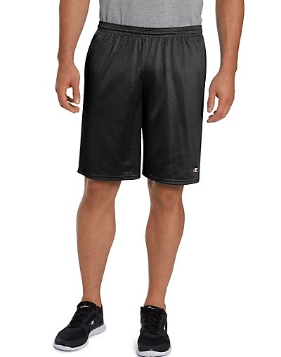 Click here for Champion Long Mesh Men's Shorts with Pockets Black... prices