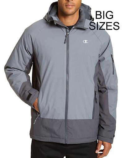 Champion Men's Big Technical Ripstop Ski Jacket with Synthet