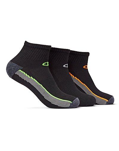 Champion Men's Ankle Training Socks 3-Pack Assortment2 6-12