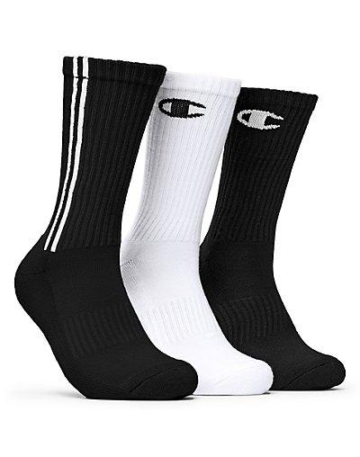 Champion Men's Dyed Crew Socks 3-Pack Assortment3 6-12