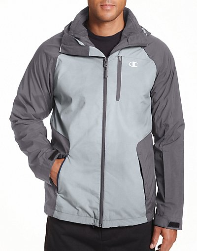 Click here for Champion Mens Technical Ripstop 3 in 1 Jacket With Sweater Fleece Liner Concrete XXL prices