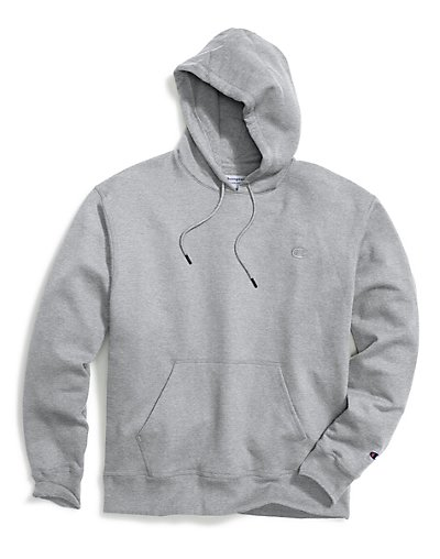 Champion Big & Tall Men's Pullover Fleece Hoodie with Contra