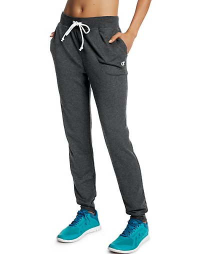 Champion Women's French Terry Jogger Pants Granite Heather L