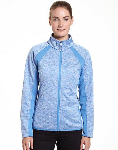 Champion Women's Plus Bonded Sport Knit Soft Shell Jacket Wi