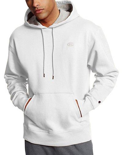 Champion Men's Powerblend Sweats Pullover Hoodie White L
