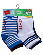 Hanes Boys' Infant/Toddler Ankle EZ Sort® Socks 6-Pk