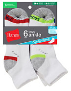 Hanes Boys Ankle Comfortblend® White EZ Sort® Socks 6-Pack