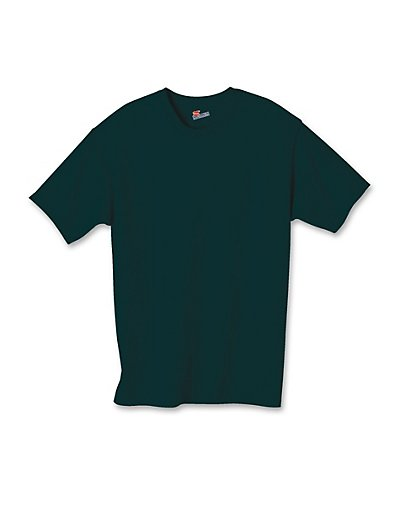 Hanes Authentic TAGLESS Kids' Cotton T-Shirt Deep Forest XS